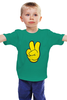 """Детская футболка классическая унисекс """"Знак Победы - Victory Sign"""" - рука, победа, мульт, looney toons, victory"""