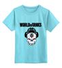"""Детская футболка классическая унисекс """"Skull WOT """" - skull, череп, games, игры, игра, game, логотип, world of tanks, танки, wot"""