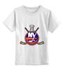 """Детская футболка классическая унисекс """"Нью-Йорк Айлендерс"""" - хоккей, nhl, нхл, нью-йорк айлендерс, new york islanders"""