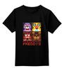 """Детская футболка классическая унисекс """"Пять ночей у Фредди (Five Nights at Freddy's)"""" - пять ночей у фредди, five nights at freddy's"""