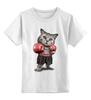 """Детская футболка классическая унисекс """"Кот Боксёр"""" - кот, спорт, бокс"""