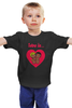 "Детская футболка ""love is..."" - heart, i love, love is"