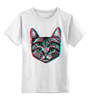"""Детская футболка классическая унисекс """"Кот 3D"""" - кот, cat, 3d"""