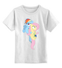 "Детская футболка классическая унисекс ""Dash & Flutty"" - rainbow dash, my little pony, friendship is magic, cooler, fluttershy"
