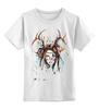 """Детская футболка классическая унисекс """"индианка"""" - рога, индианка"""
