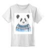 """Детская футболка классическая унисекс """"Панда"""" - панда, panda, свитер"""