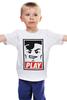 """Детская футболка классическая унисекс """"Lego Play (Obey)"""" - gamer, lego, игрок, лего, играй"""