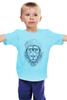 """Детская футболка классическая унисекс """"Лев в шапке"""" - лев, lion, царь зверей, лев в шапке"""