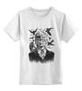 """Детская футболка классическая унисекс """"Хичкок и Вороны"""" - глаз, вороны, ужасы, хоррор, raven"""