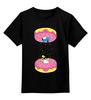 """Детская футболка классическая унисекс """"Simpsons x Portal"""" - симпсоны, гомер симпсон, пончик, the simpsons, donut"""