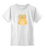 """Детская футболка классическая унисекс """"Умная кошка"""" - кошка, модно, котик, casual"""