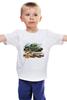 """Детская футболка """"Танк и пехота"""" - победа, 9 мая, танк, пехота, наступление"""