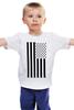 """Детская футболка классическая унисекс """"Black America"""" - америка, флаг, swag, свэг, черная америка"""