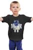 "Детская футболка классическая унисекс ""R2D2 x Android"" - android, star wars, r2d2, дроид"