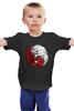 """Детская футболка """"Волк и Дракон (Игра престолов)"""" - игра престолов, старки, game of thrones, таргариен, волк и дракон"""