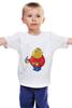 """Детская футболка классическая унисекс """"Fat Legoman"""" - lego, обжорство, лего"""