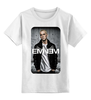 """Детская футболка классическая унисекс """"White boy"""" - арт, rap, eminem, эминем, rapper, slim shady"""