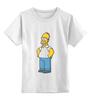 """Детская футболка классическая унисекс """"Гомер Симпсон"""" - homer, симпсоны, гомер симпсон, the simpsons"""