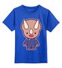 """Детская футболка классическая унисекс """"Dino Cop (Kung Fury)"""" - кунг фьюри"""