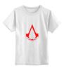 "Детская футболка классическая унисекс ""assassins creed (logo)"" - assassin's creed, кредо ассасина"