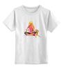 """Детская футболка классическая унисекс """"Девушка с собачками """" - собачки"""