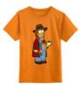"""Детская футболка классическая унисекс """"Гомер Симпсон (Доктор Кто)"""" - симпсоны, doctor who, гомер симпсон, the simpsons, time lord"""