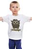 """Детская футболка """"Сычик"""" - цветы, хищник, глаза, дикий, птица, дети, птицы, природа, сова, животное"""