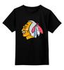 """Детская футболка классическая унисекс """"Джоэль Кенневилль (Чикаго Блэкхокс)"""" - nhl, нхл, chicago blackhawks, ice hokey"""
