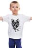 """Детская футболка классическая унисекс """"пантера"""" - кошка, cat, графика, маска, пантера, дотворк, panther, tm kiseleva"""