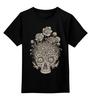 """Детская футболка классическая унисекс """"Цветочный череп"""" - skull, череп, цветы"""