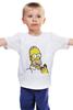"""Детская футболка классическая унисекс """"Пончик Гомера"""" - симпсоны, гомер симпсон, пончик гомера, the simpsons"""