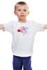 """Детская футболка классическая унисекс """"ангел"""" - ангел, купидон, амур, cupid"""