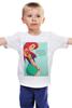 """Детская футболка классическая унисекс """"Hipster Ariel"""" - хипстер, ариель"""
