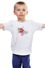 """Детская футболка """"бумажный журавлик"""" - узор, красный, акварель, бумажный журавлик, завитки"""