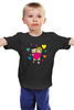 "Детская футболка классическая унисекс ""love is..."" - heart, i love, love is"