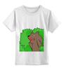"""Детская футболка классическая унисекс """"Медведь из кустов"""" - медведь, распутница, медведь из кустов, блудница"""