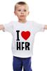 """Детская футболка классическая унисекс """"I LOVE HER"""" - сердце, любовь, heart, i love"""
