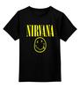 """Детская футболка классическая унисекс """"Nirvana"""" - nirvana, рок, курт кобейн, нирвана, куртка бейна"""
