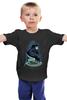 """Детская футболка классическая унисекс """"Космонавт Диджей"""" - dj, music, космос, диджей, космонавт"""