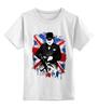 """Детская футболка классическая унисекс """"Уинстон Черчилль """" - англия, uk, union jack, winston churchill, уинстон черчилль"""