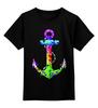 """Детская футболка классическая унисекс """"Якорь"""" - море, якорь, sea, путешествия, anchor, sailor"""