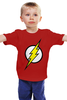 """Детская футболка классическая унисекс """"The Flash (Молния)"""" - comics, flash, dc, флэш"""