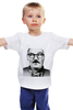 """Детская футболка классическая унисекс """"Лукашенко хипстер"""" - хипстер, лукашенко, беларуссия, alexander lukashenko"""