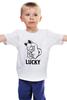 """Детская футболка классическая унисекс """"Манэки-Нэко (Кот Счастья)"""" - удача, cat, lucky, кот счастья, манэки-нэко"""