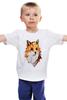 """Детская футболка """"Poly Fox"""" - fox, лиса, полигоны"""