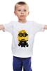 """Детская футболка """"Миньон (Minion)"""" - миньон, гадкий я, minion"""
