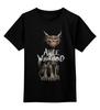 "Детская футболка классическая унисекс ""Alice in Wonderland"" - кот, кошка, cat, фантастика, алиса, сказка, фэнтази, алиса в стране чудес, alice in wonderland, alice"