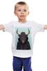 """Детская футболка классическая унисекс """"Деловой бык"""" - рок, стиль, модный, бык, деловой бык"""