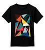 """Детская футболка классическая унисекс """"Треугольники"""" - арт, абстракция, фигуры, треугольники"""