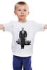 """Детская футболка классическая унисекс """"Владимир Путин и Волга"""" - волга, подарок, путин, putin"""